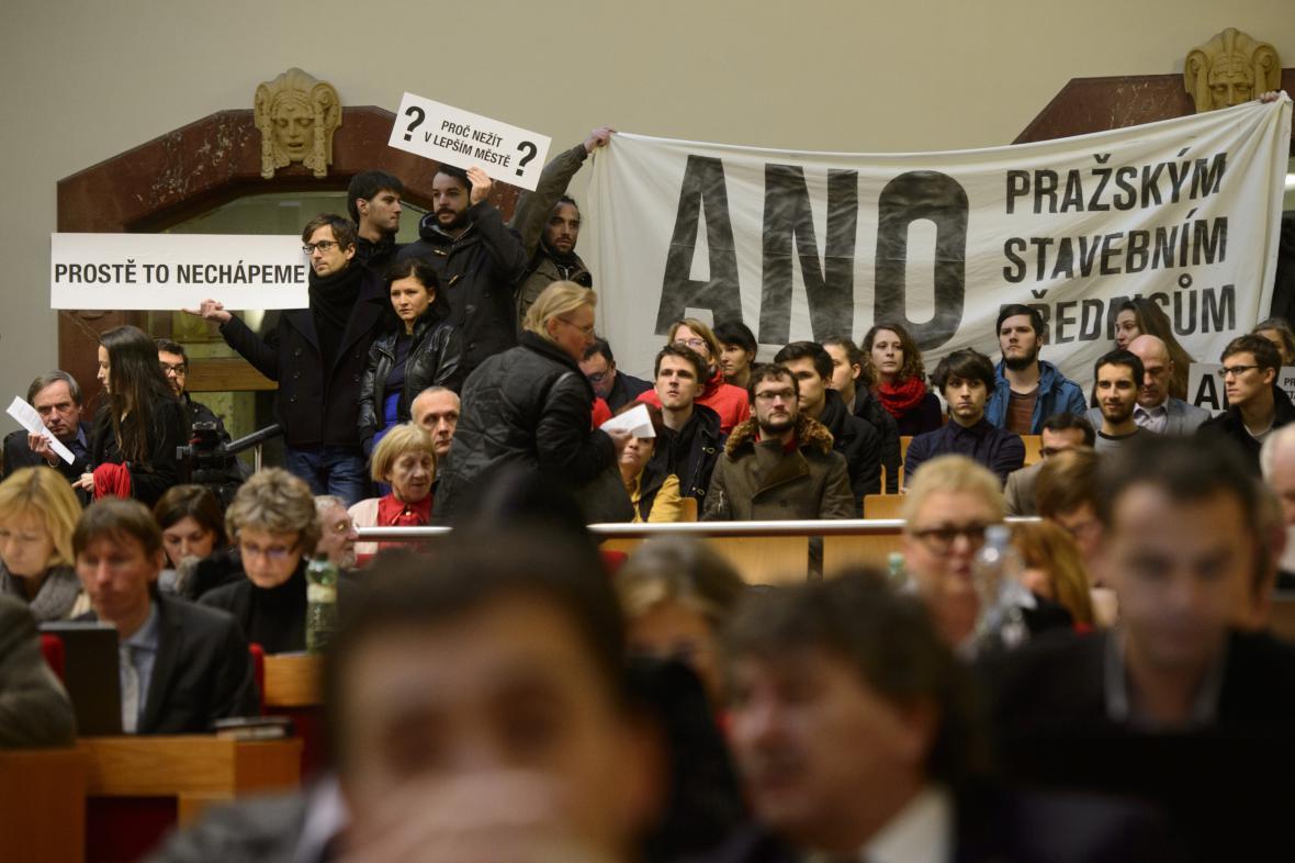 Demonstrace na podporu stavebních předpisů