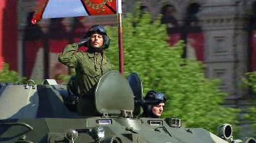 Vojenská přehlídka na Rudém náměstí