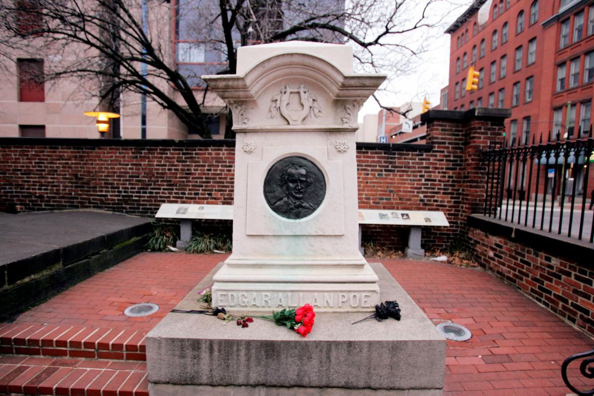 Hrobka E. A. Poea v americkém Baltimoru