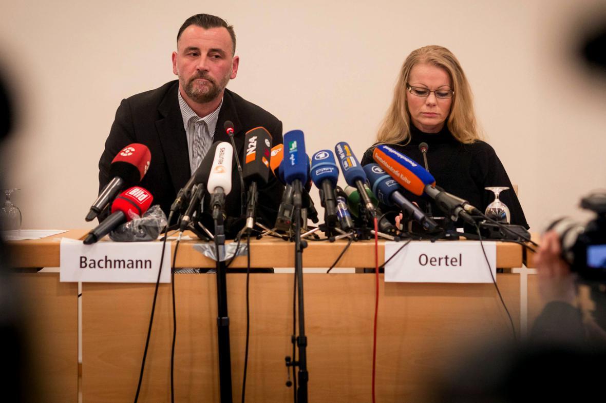 Lutz Bachmann a Kathrin Oertelová