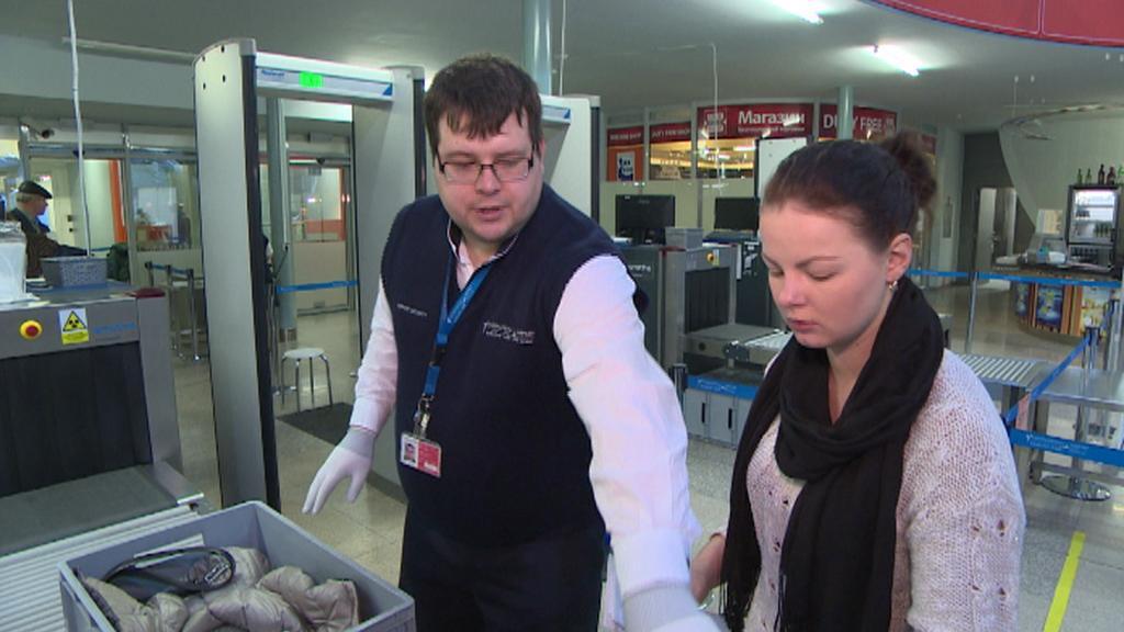 Kontrola na karlovarském letišti