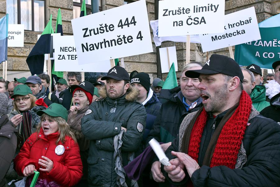 Hornická demonstrace