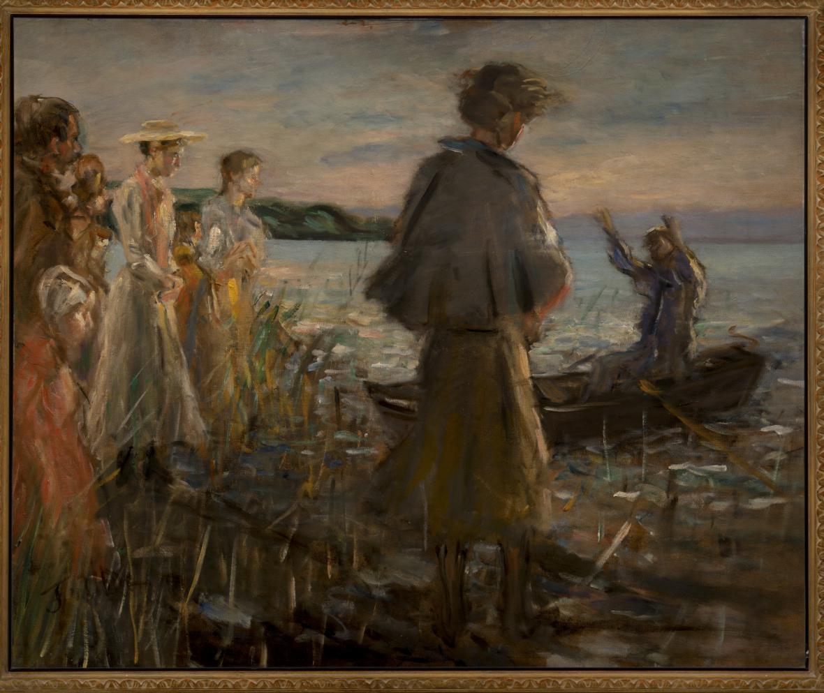Fritz von Uhde / Kristovo kázání na jezeře, 1896