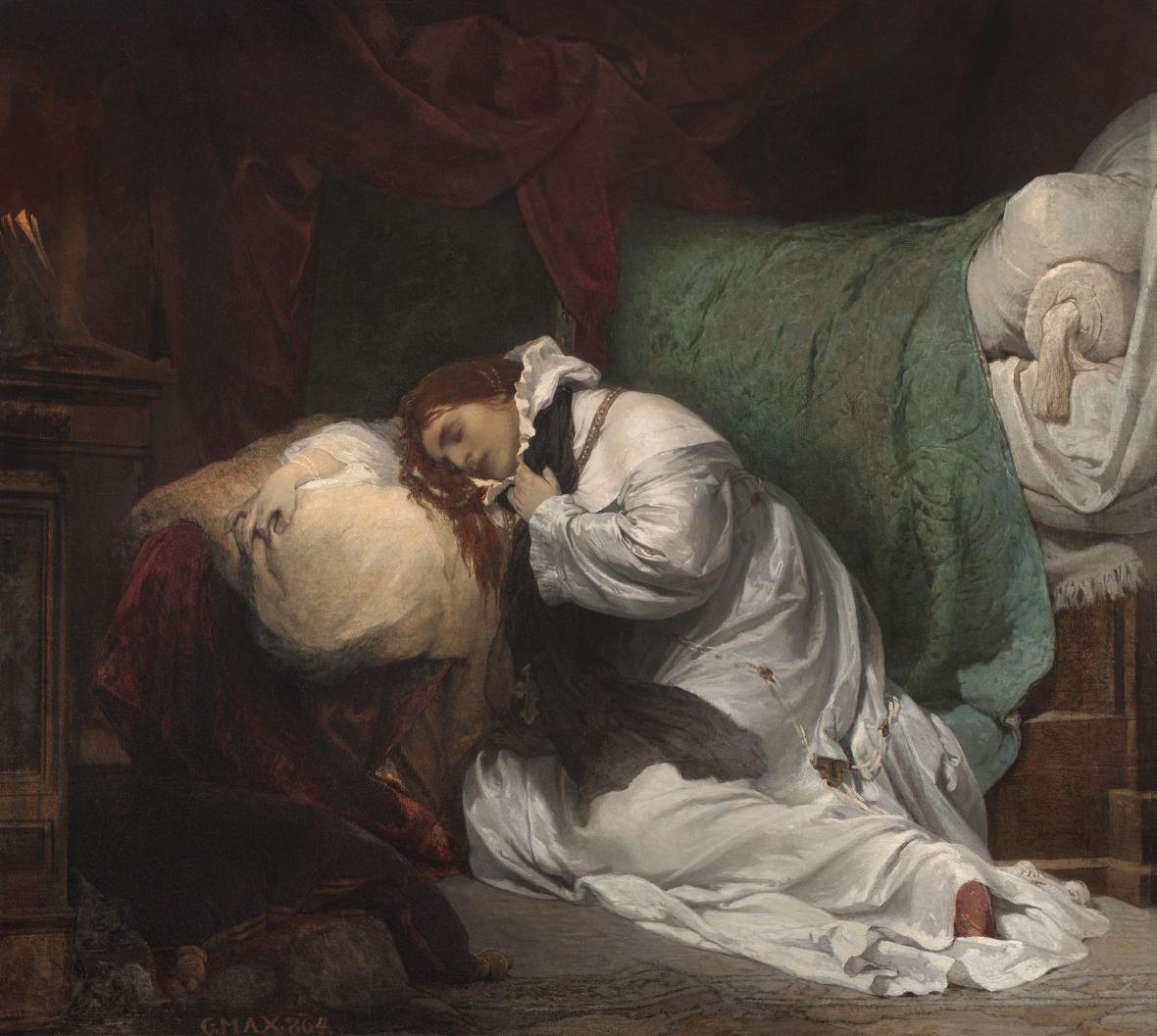 Gabriel von Max / Umučení svaté Ludmily, 1864