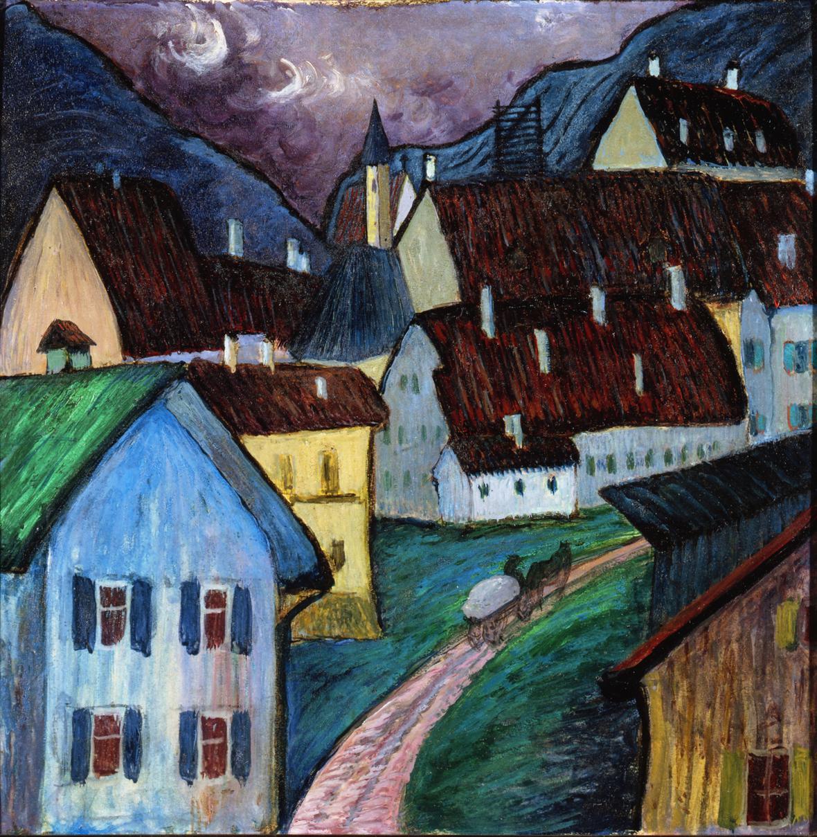 Marianne von Werefkin / Večeře v Murnau, 1910