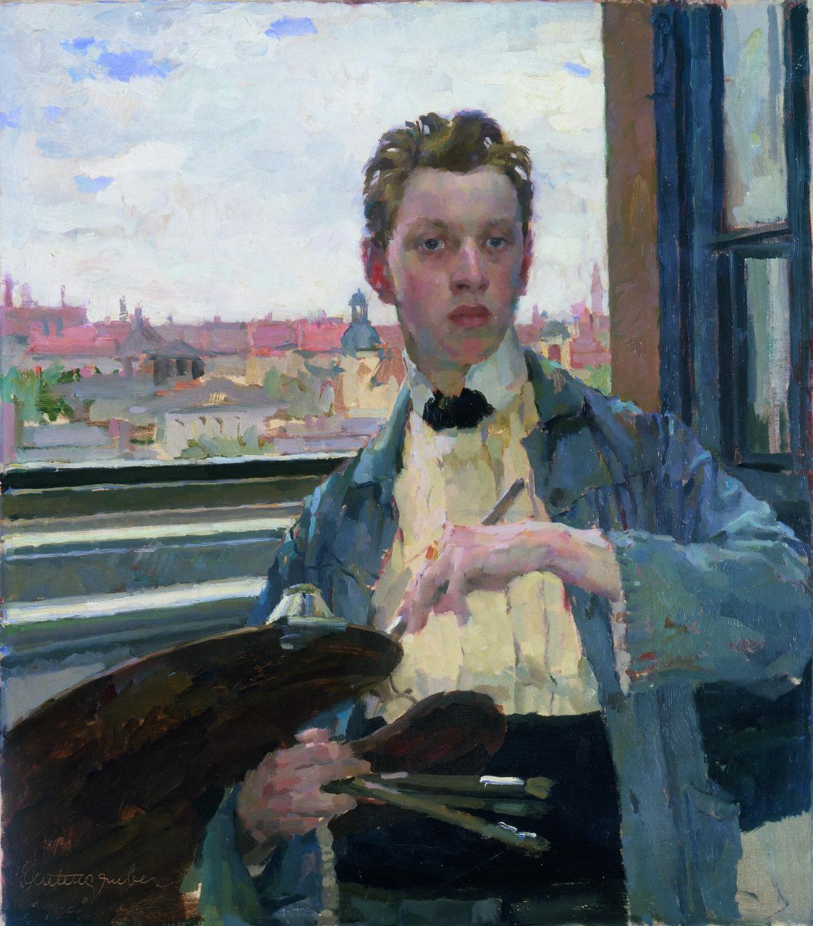 Jan Autengruber / Vlastní podobizna, 1910
