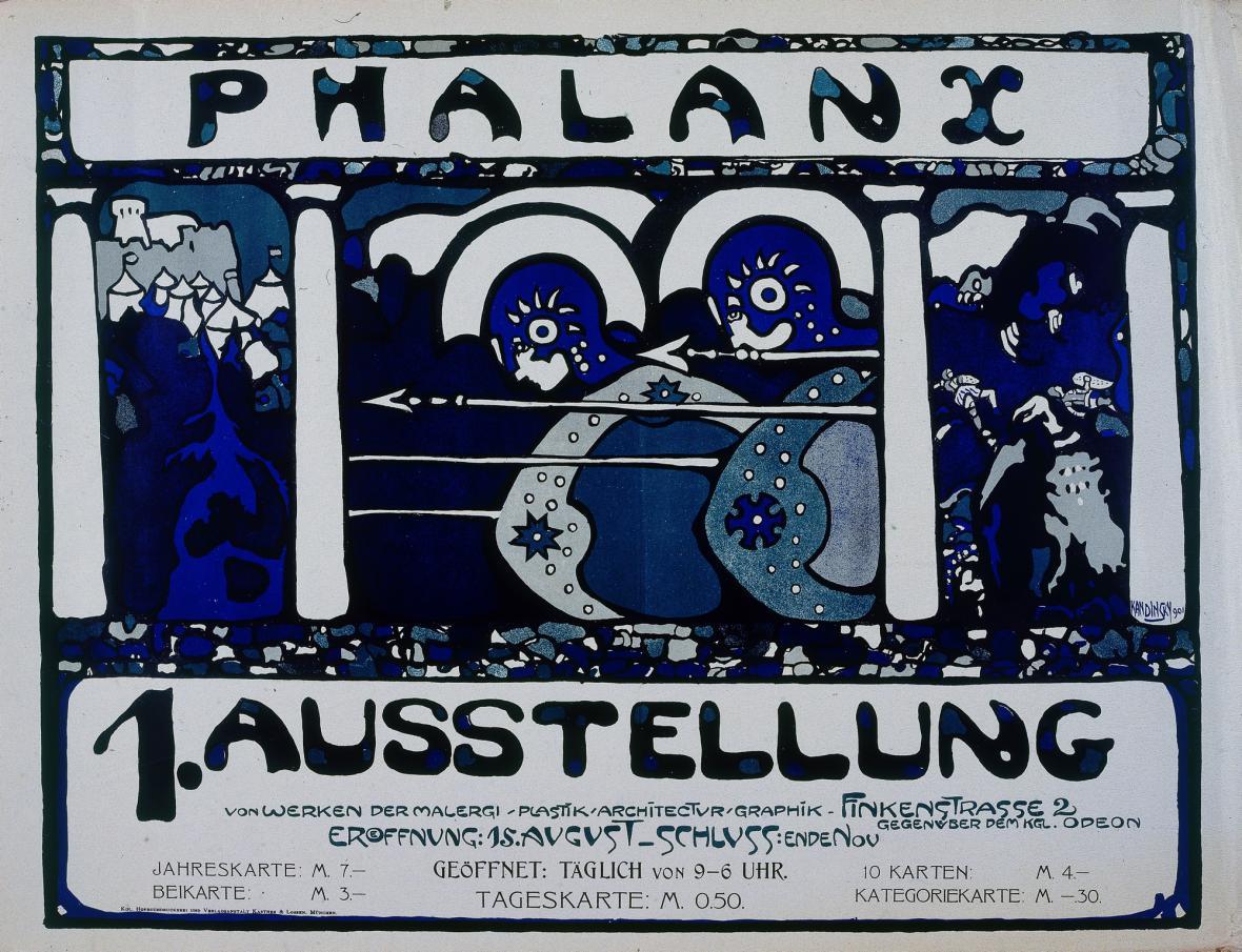 Vasilij Kandinskij / plakát k výstavě sdružení Phalanx, 1901