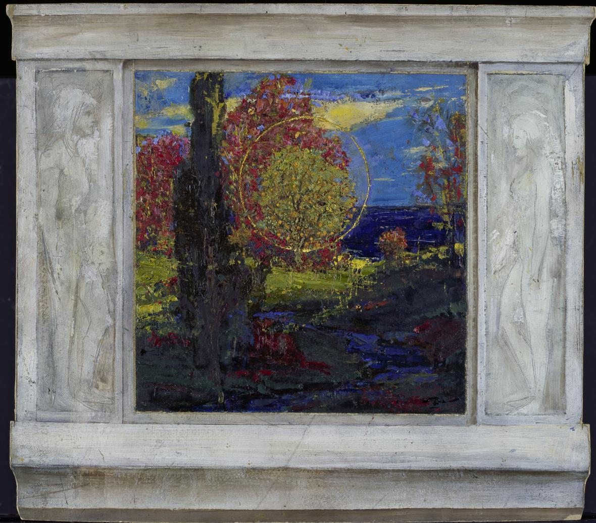 Richard Riemerschmid / studie k obrazu Rajská zahrada, 1896