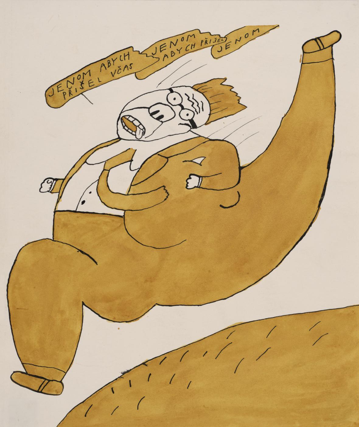 Ilustrace Jiřího Šalamouna z knihy o Maxipsu Fíkovi