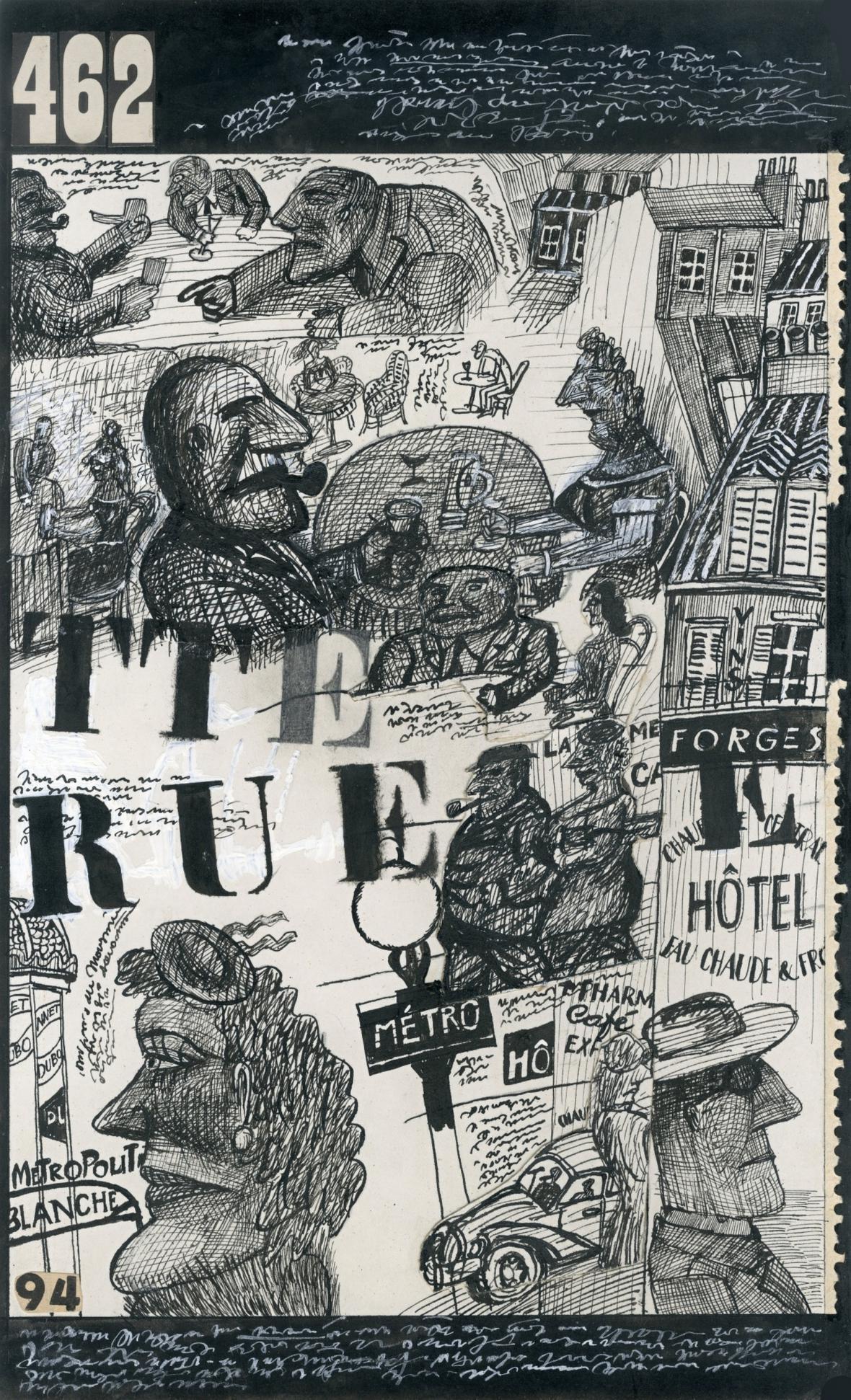 Ilustrace Jiřího Šalamouna z knihy Maigret chystá léčku