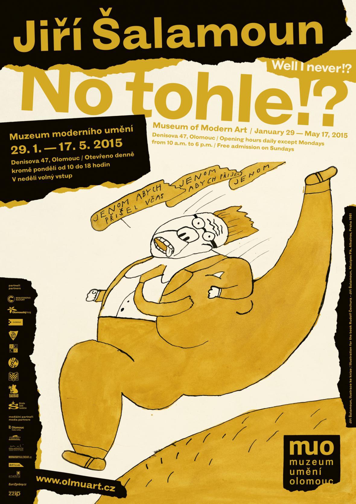 Plakát k výstavě ilustrací Jiřího Šalamouna