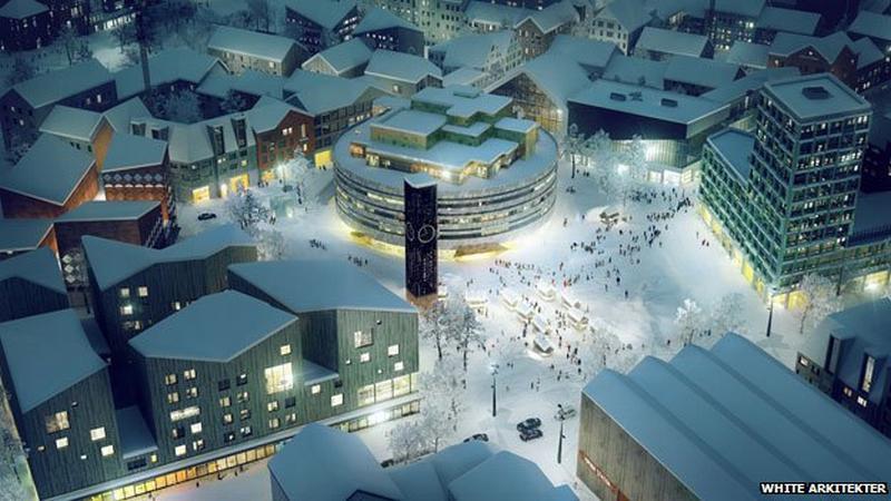 Vizualizace nového centra Kiruny