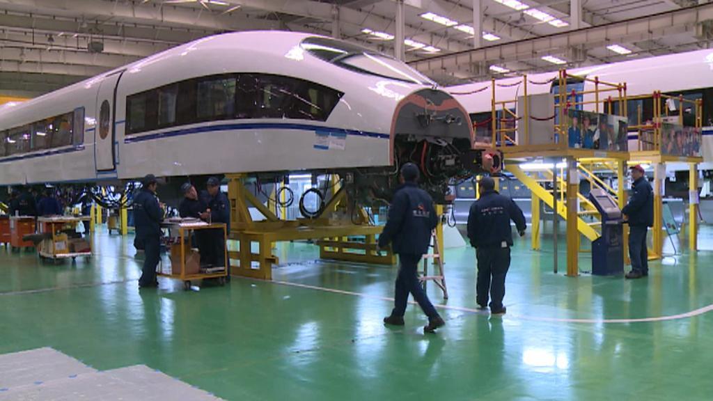 Konstrukce čínského rychlovlaku
