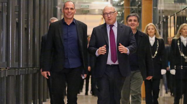 Varufakis a francouzský ministr Michel Sapin