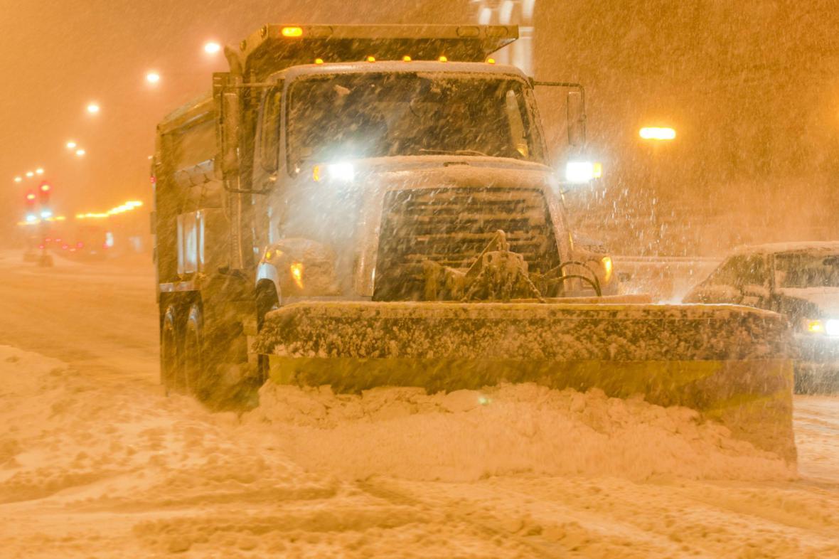 Přívaly sněhu v Chicagu
