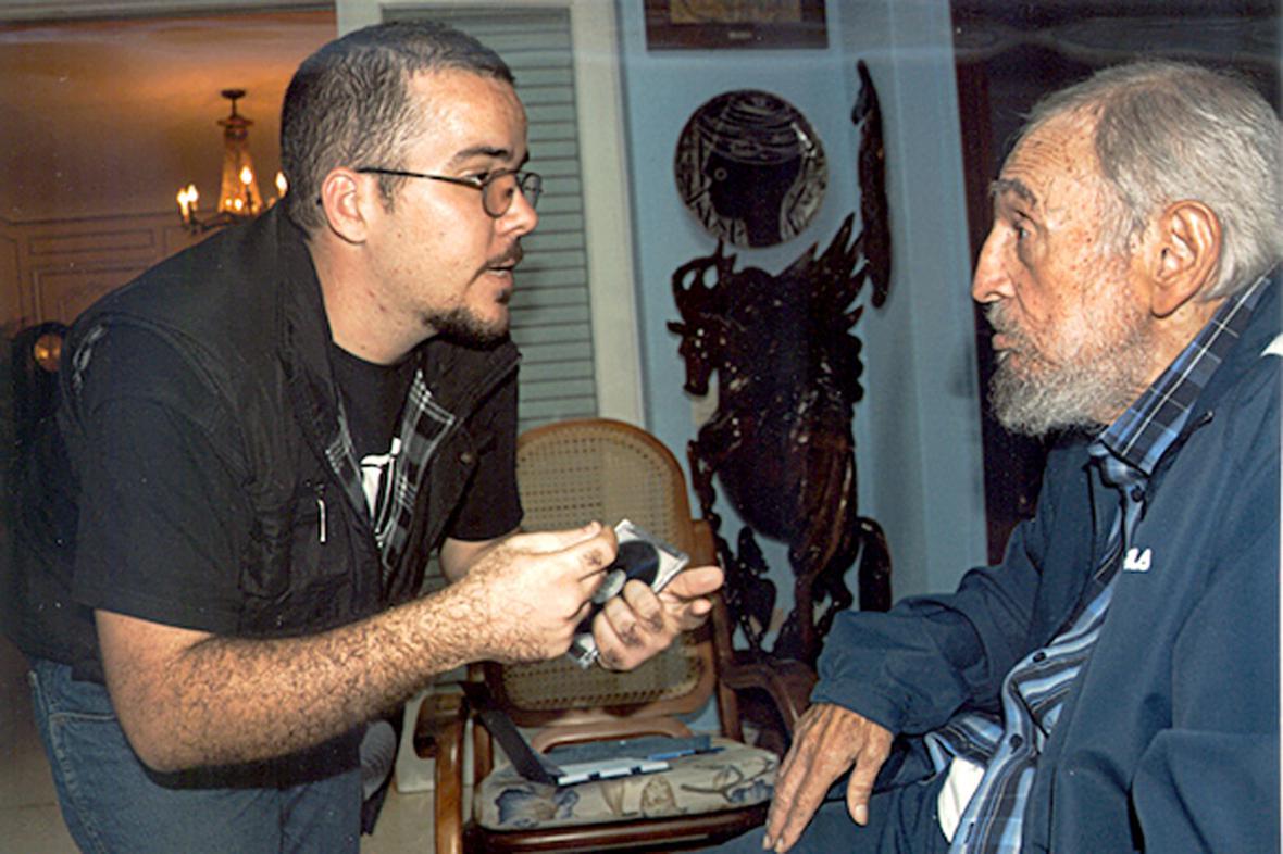 Fidel Castro s Randym Perdomou Garcíou