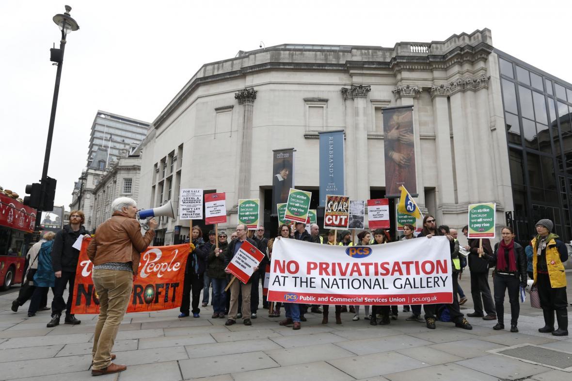 Zaměstnanci Národní galerie v Londýně stávkují