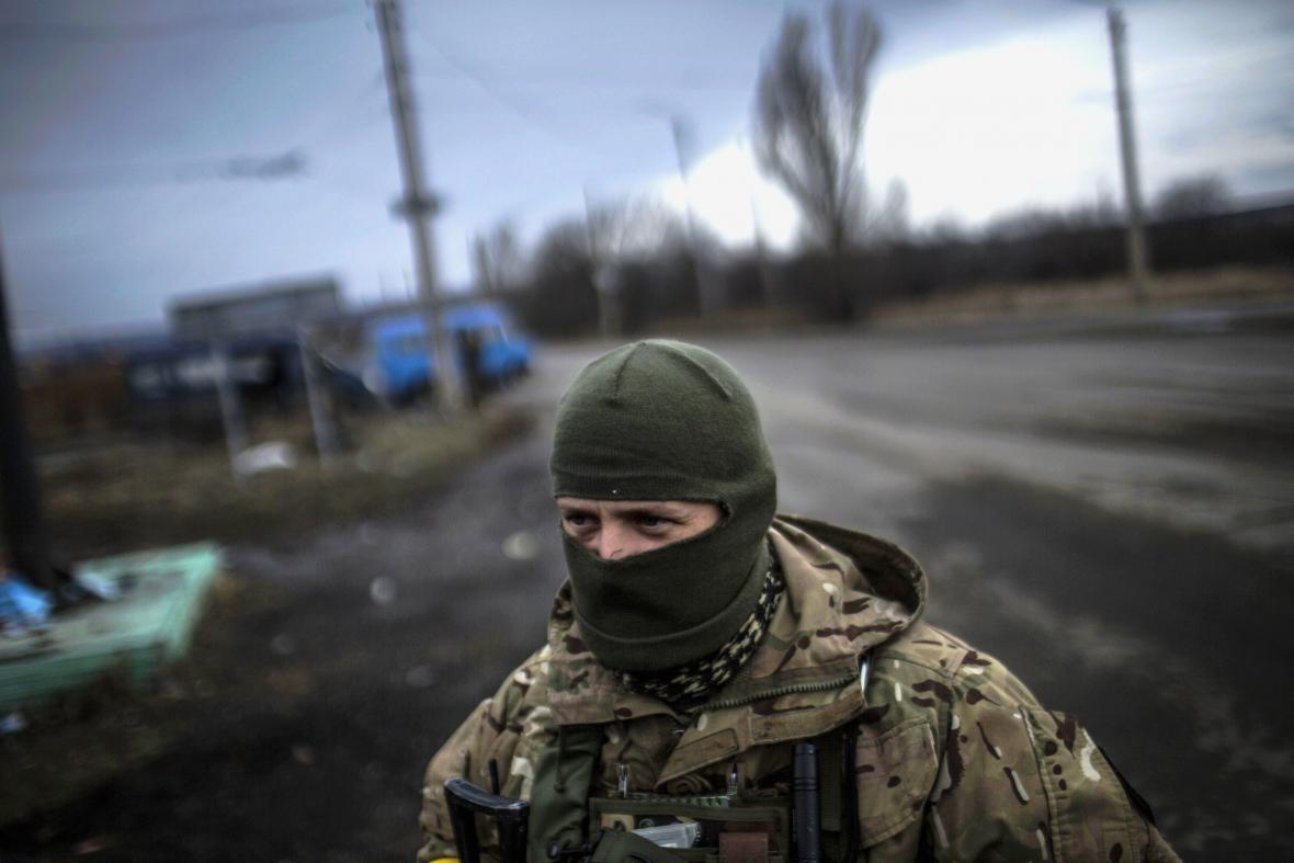 Ukrajinský voják u Debalceve