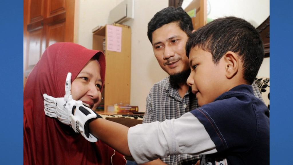 Muhammad Muqri s rodiči