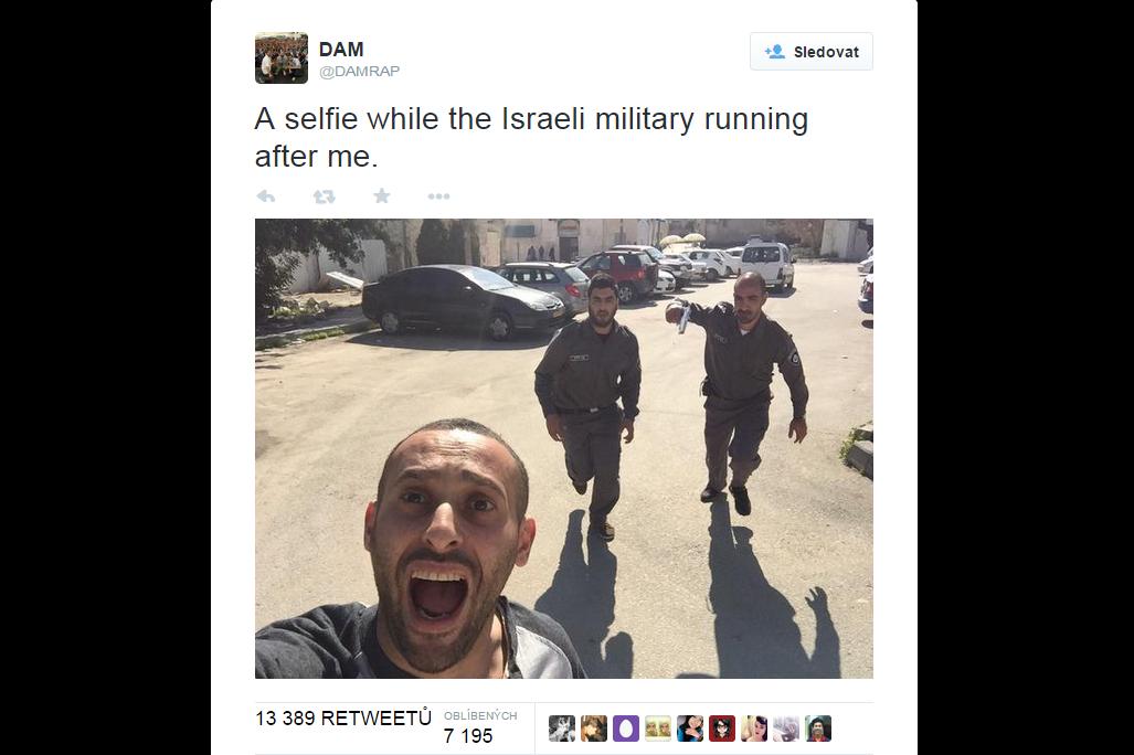Falešné selfie arabského rappera Naffara