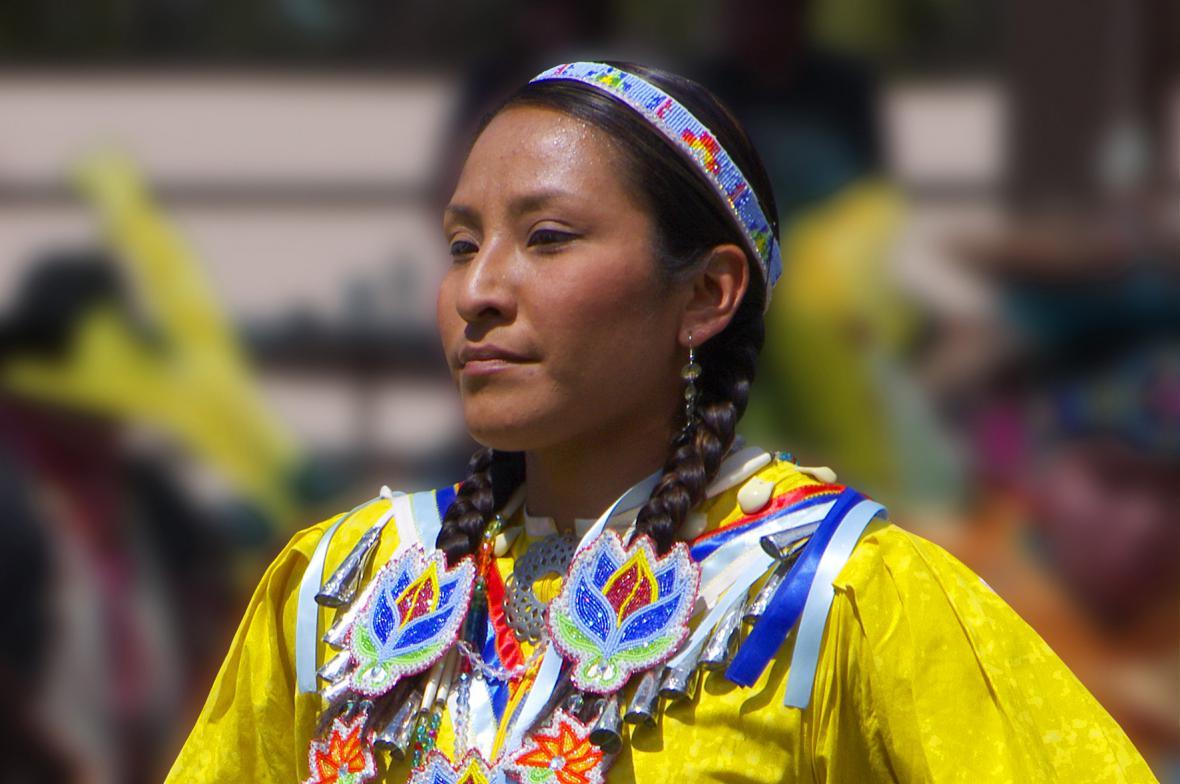 Indiánská tanečnice na fotografii Vladimíra Prachaře