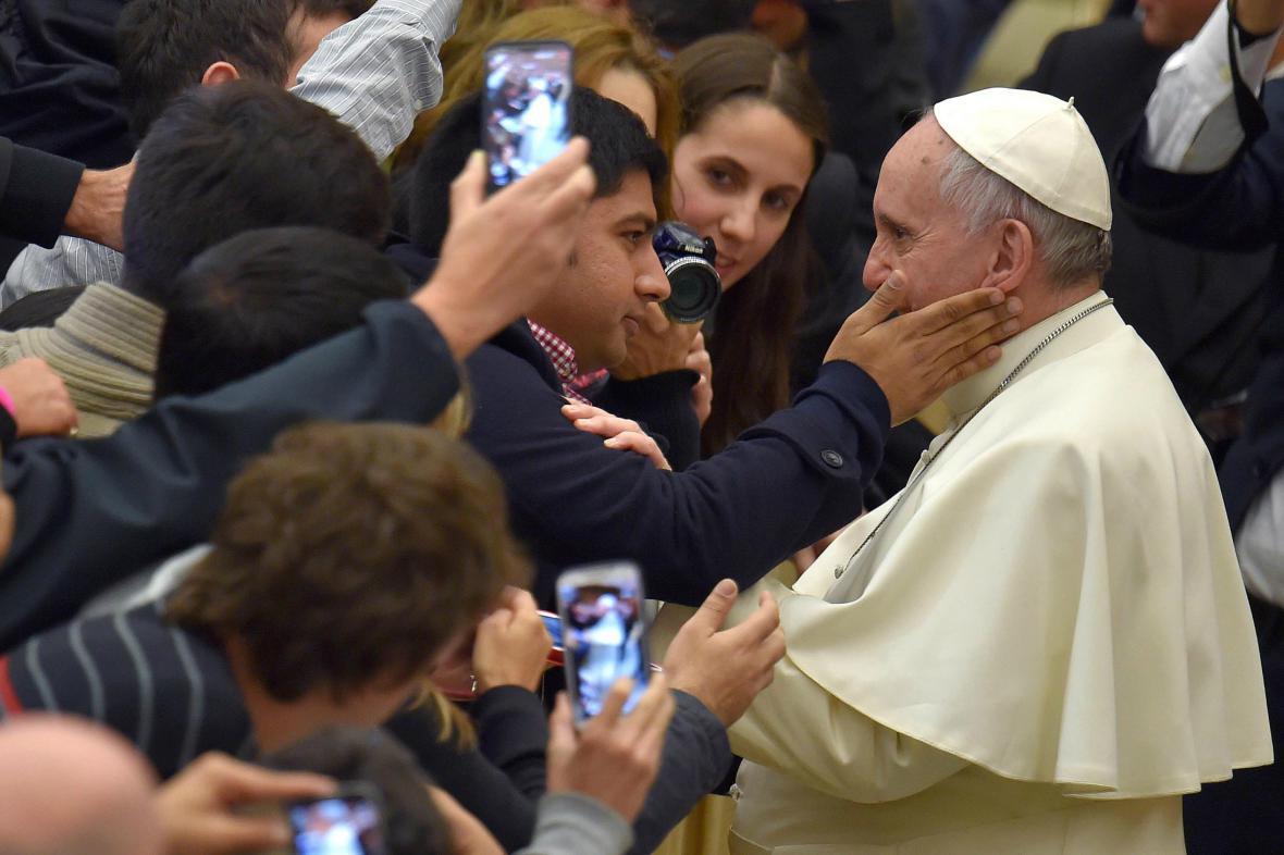 Papež František během generální audience