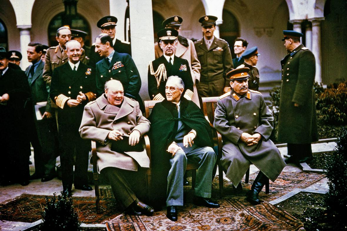 Výsledek obrázku pro foto konference jalta