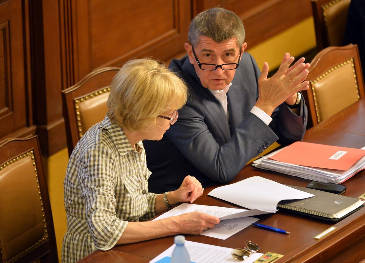 Andrej Babiš a Helena Válková