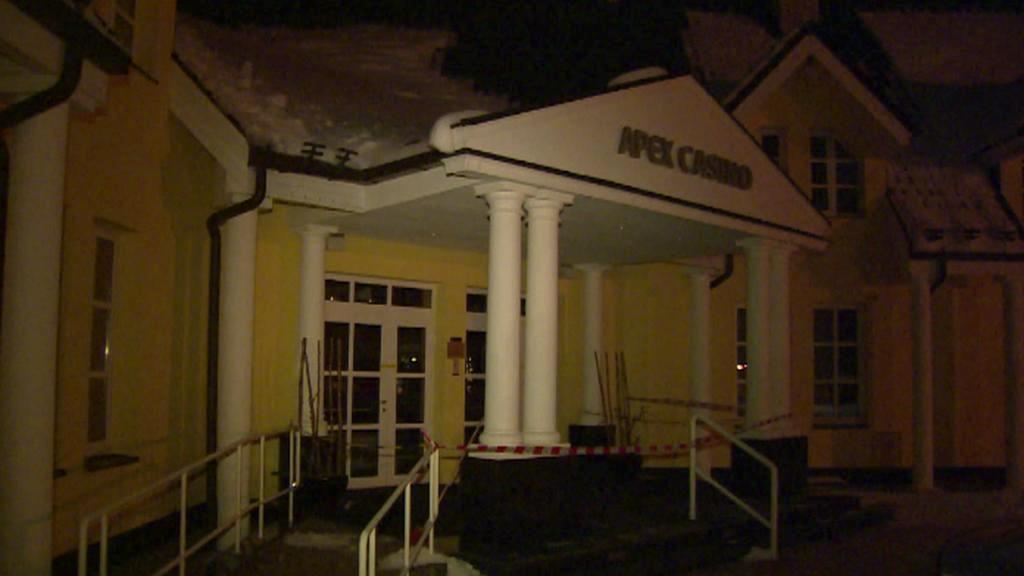 Kasino ve Strážném, kde se večer zřítil strop