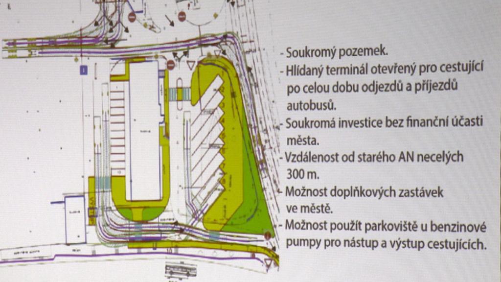 Plán nového autobusového nádraží