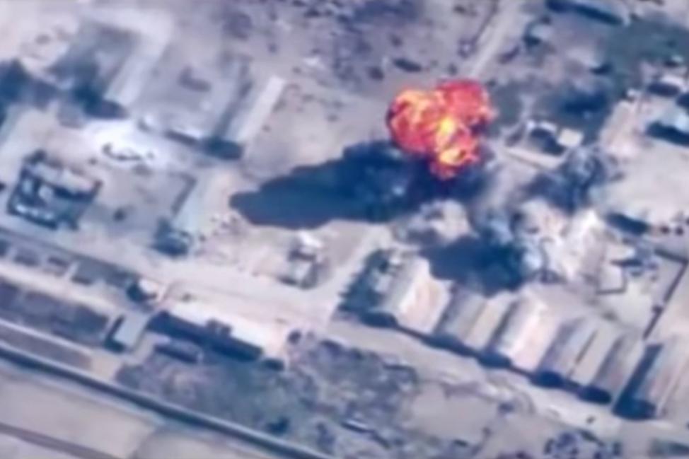 Nálety jordánského letectva na pozice IS