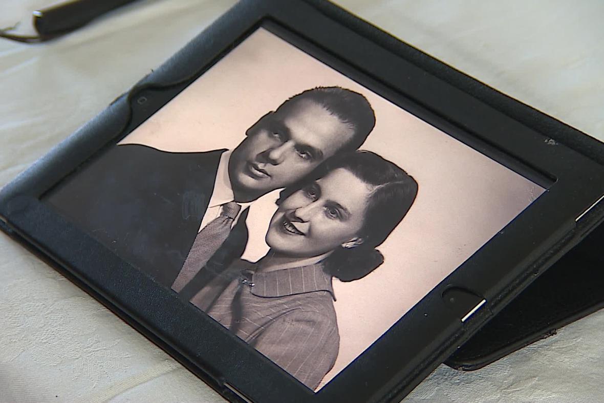 Manželé Sázavští se brali 4. února 1950