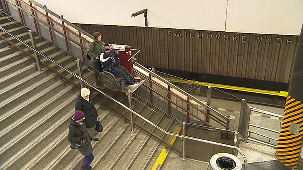 Plošina na Smíchovském nádraží