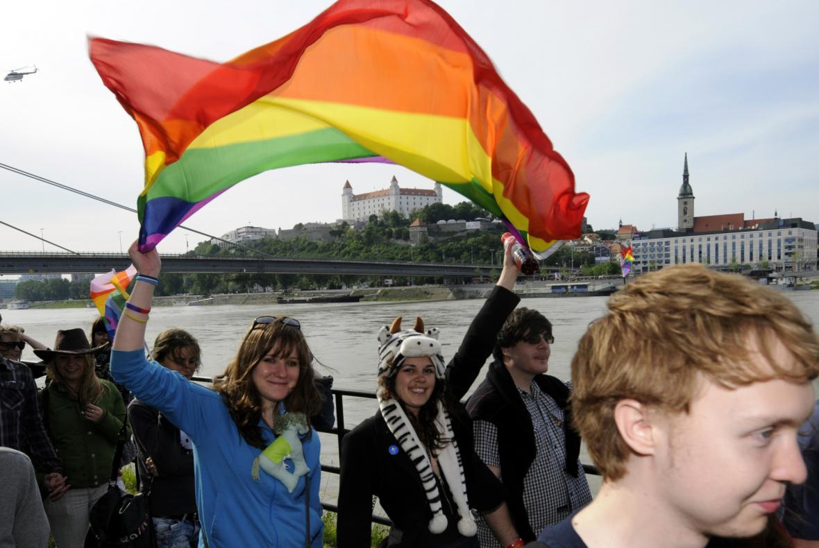 Pochod Duhový Pride v Bratislavě.