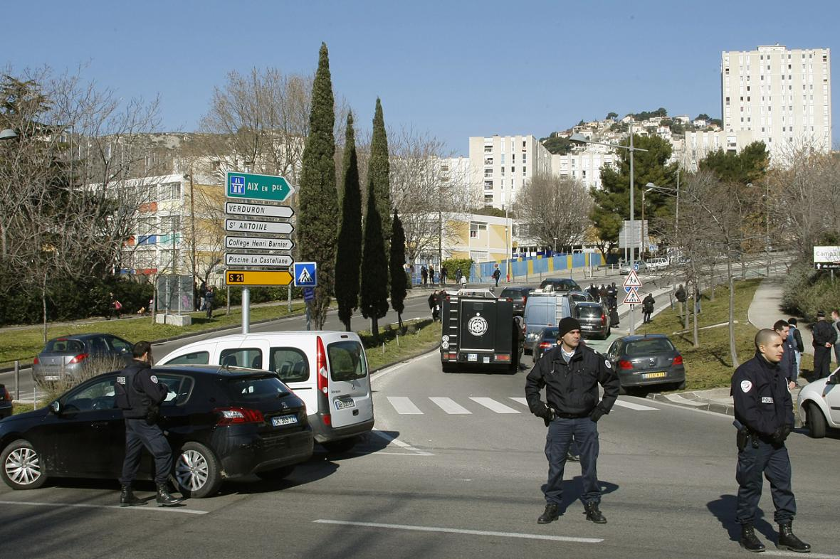 Policejní zásah v Marseille