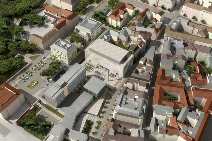 Vizualizace Janáčkova kulturního centra v Brně