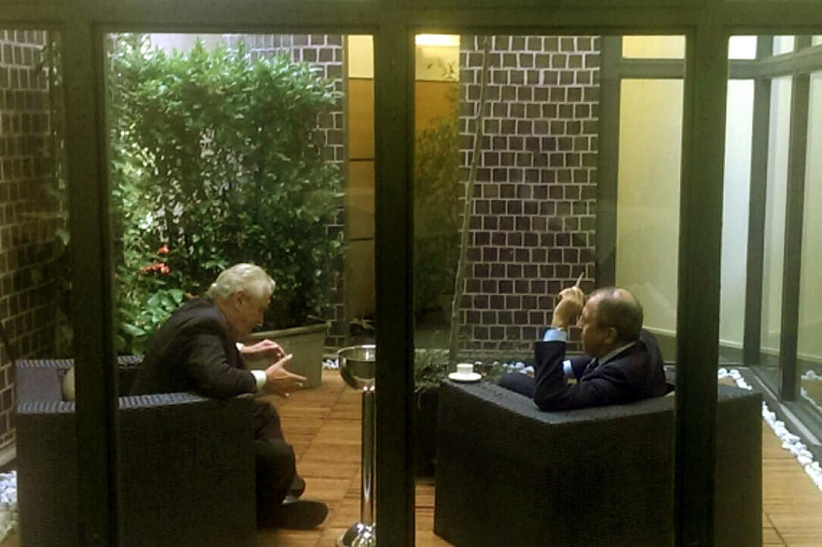 Miloš Zeman a Sergej Lavrov