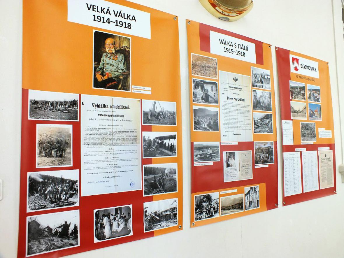 Výstava Italští uprchlíci na Blanensku a Boskovicku v letech 1915–1919