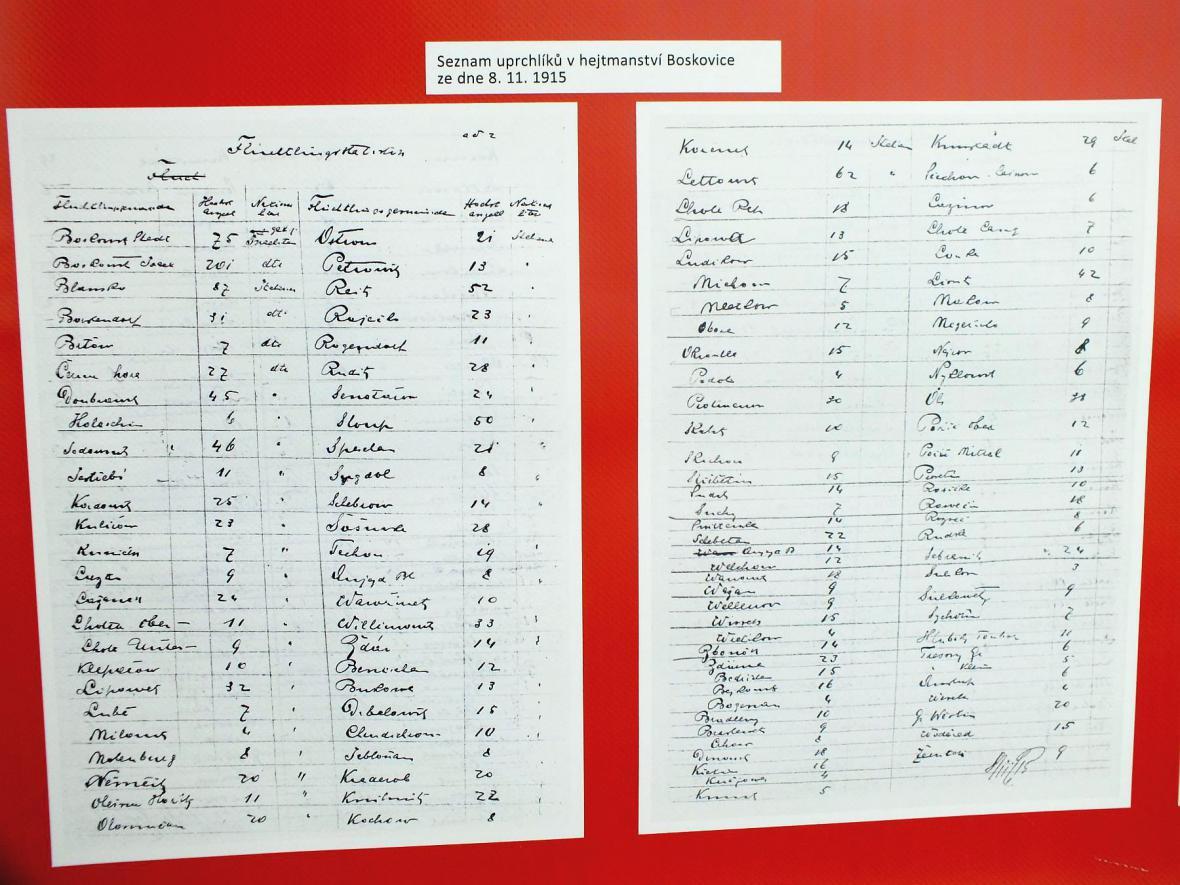 Z výstavy o italských uprchlících na Blanensku a Boskovicku