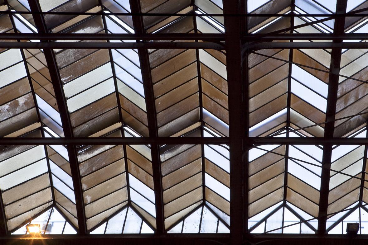 Střecha hlavního nádraží v Praze