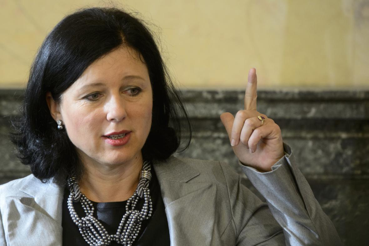 Eurokomisařka Věra Jourová