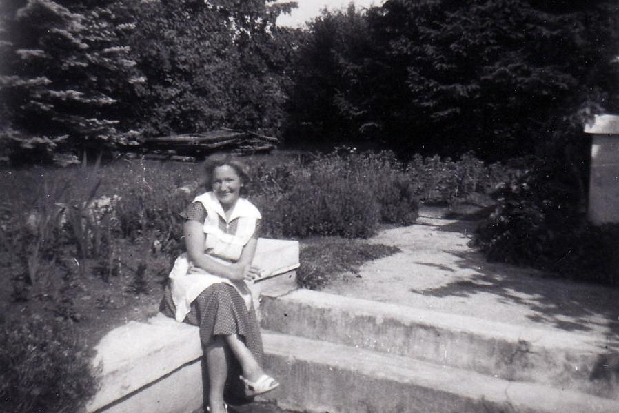 Olga Hlachová těsně před zatčením (1950)