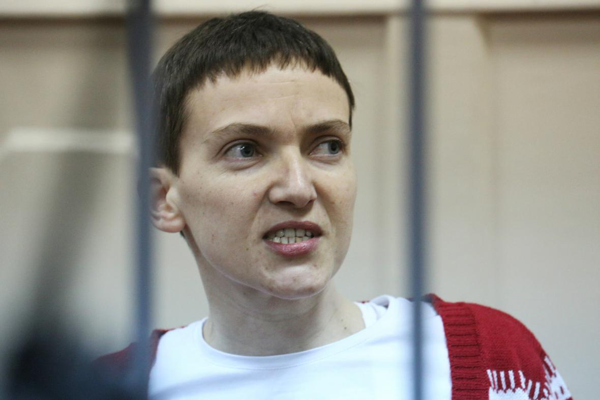 Naděžda Savčenková před ruským soudem