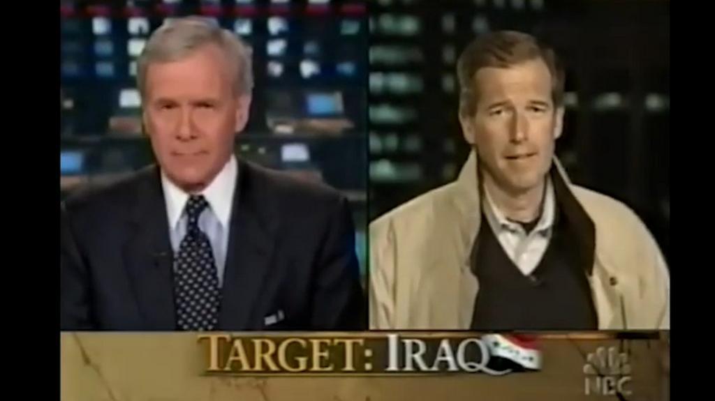 Brian Williams ve vysílání NBC