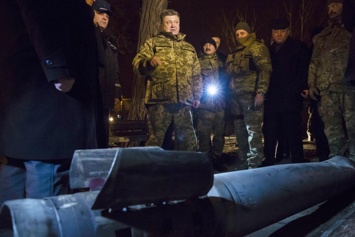 Petro Porošenko v Kramatorsku