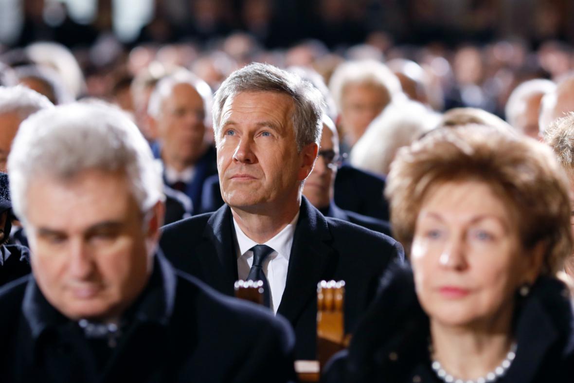 Christian Wulff při posledním rozloučení s Weizsäckerem