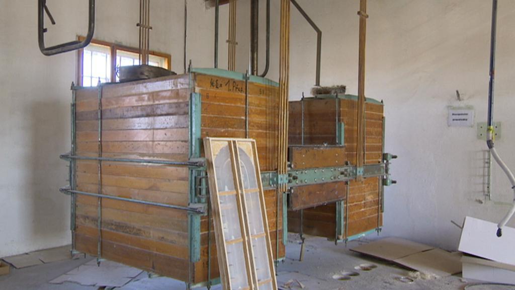 Interiér Automatických mlýnů v Pardubicích