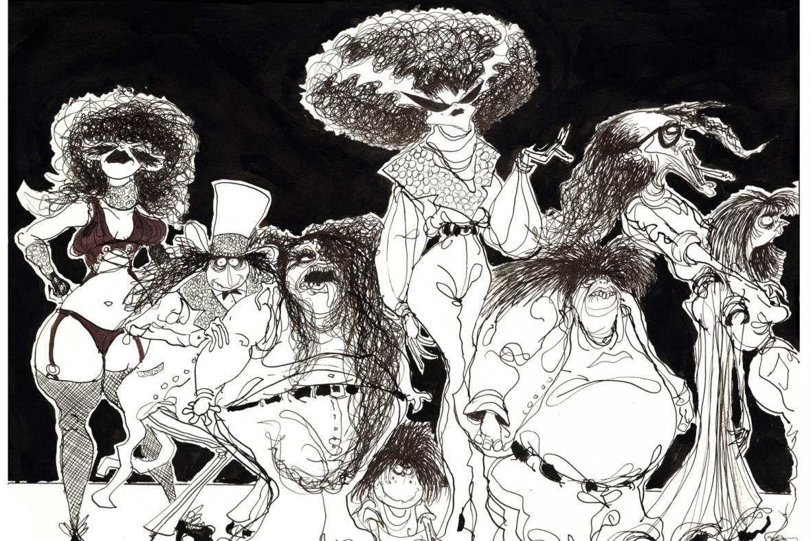 Z výstavy Tim Burton a jeho svět (GHMP)