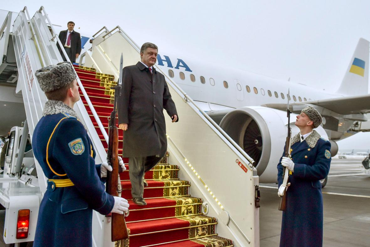 Petro Porošenko přijel do Minsku