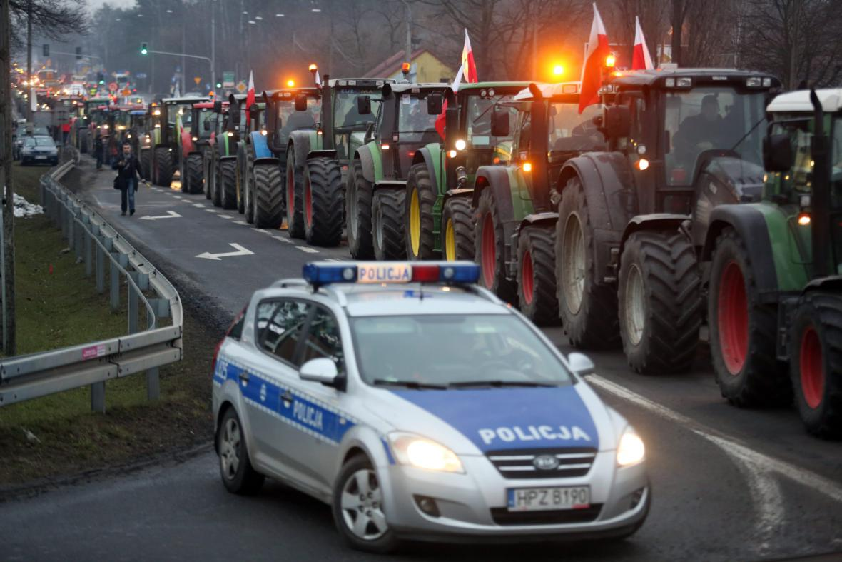 Protesty zemědělců v Polsku